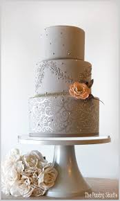 silver wedding cakes a chic gray and silver wedding cake accented with a touch of