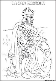dacian warrior free printable coloring