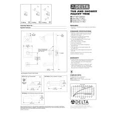 delta faucet t17067 ara polished chrome one handle valve only