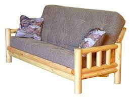rustic finish futon frame by simmons futons