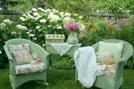 Flower Garden Chairs Flowers Table Spot Beautiful Pillows Still Flowers Garden Life