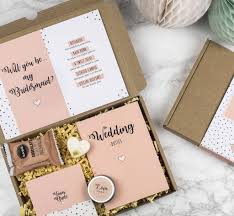 bridesmaid boxes personalised will you be my bridesmaid gift box by milly inspired