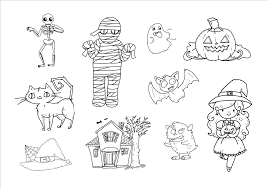 imagenes de halloween para imprimir y colorear dibujo para imprimir y colorear de dibujos halloween color on