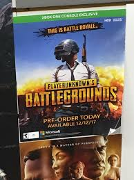 pubg exploits xbox one xbox pubg pre order poster i saw in gamestop pubattlegrounds