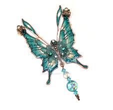 fairy crystal necklace images Crystal fairy wings necklace in aqua by glittrrgrrl jpg