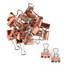 Desk Accessories Uk by 4 50 Rose Gold Binder Clips Pack Of 24 Rose Gold Pinterest