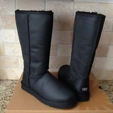 s ugg australia black zea boots ugg womens boots 8 zea leather black waterproof 1008018 uggs