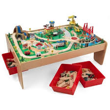 table top train set buy kidkraft waterfall mountain train set table at well ca free