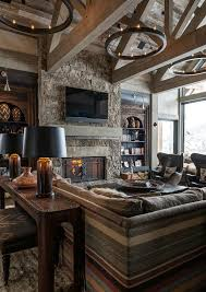 Log Home Interior Designs Log Cabin Style Meets Ethnic And Modern Interior Design Decoholic