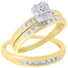 wedding ring trio sets 10k yellow gold diamond mens engagement ring trio set
