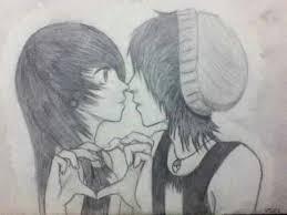 Emo Hairstyles Drawings by 31 Nice Emo Couple Drawing U2013 Wodip Com