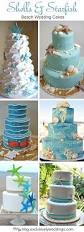 five perfect designs for your beach wedding cake exclusively