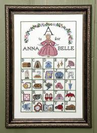 a is for annabelle counted cross stitch kit tudor and family
