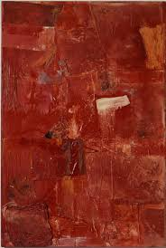 red paint red painting 1953 54 robert rauschenberg foundation