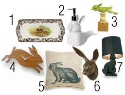 Rabbit Home Decor | personal shopper grown up bunny rabbit decor for stephanie gift