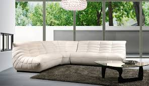 Living Room Glass Table Furniture Luxury Leather Sectional Sofa For Elegant Living Room