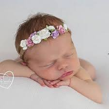newborn headband flower newborn headband tieback flower crown kids bohemian crown