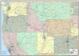 map usa northwest wall map of northwest states