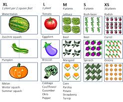 square foot vegetable garden plan layout with 1 4 9 or 16