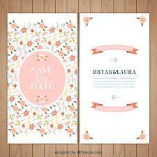 wedding invitations freepik floral and beautiful wedding invitation vector free
