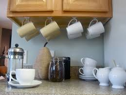 cup hook hack love this idea for under cabinet storage home pinterest