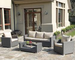 Patio Lounger Cushions Jb Patio Patio Wicker 4 Piece Seating Group With Cushions