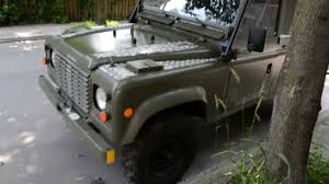 military land rover 110 1990 land rover defender military radio car youtube