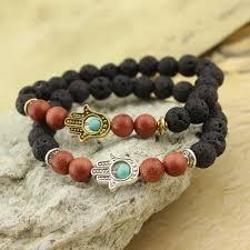 antique beaded bracelet images 2017 lava stone yoga energy beaded bracelet antique gold silver jpg