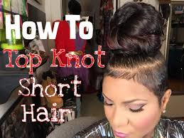 ponytail haircut for me shaved sides how to top knot short hair youtube