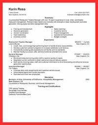 Resume Template Restaurant Busser Resume Sample Good Resume Format