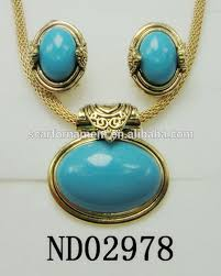 turquoise necklace set images African fashion royal blue turquoise stone jewelry set hot selling jpg