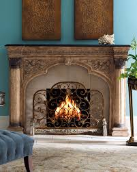 arched fireplace screen beautifully patterned fireplace screen