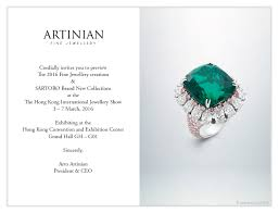 Jewellery Invitation Card Visit Artinian At The Hong Kong International Jewellery Show 3 7