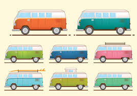 volkswagen van hippie vw camper free vector art 593 free downloads