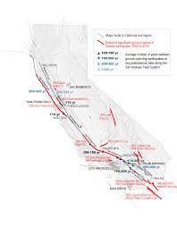 california map detailed california seismicity