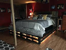 bed frame with lights how to make a pallet bed how to make a pallet bed frame with lights