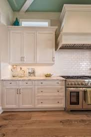 Kitchens With Off White Cabinets Off White Kitchen Cabinet With Wire Brushed White Oak Flooring And