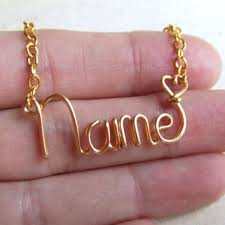 Wire Name Necklace Best Personalized Wire Jewelry Products On Wanelo