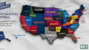 Map Of Mlb Teams Which Nfl Team Jersey Sells Best In Your State Sbnation Com