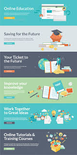 design online education flat design concepts for online education by puresolution graphicriver