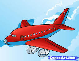 learn how to draw a plane airplanes transportation free step by