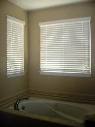 decorations wood blinds in corner window bathroom ideas smart