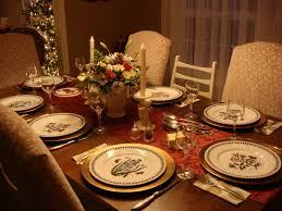 dining room elegant christmas banquet decorating ideas for your