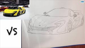 mclaren drawing drawing mclaren p1 youtube
