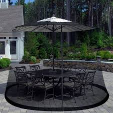 Patio Furniture From Walmart by Pure Garden Outdoor Umbrella Screen Black Walmart Com