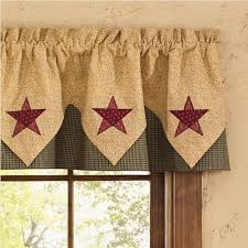 country point valance curtains country star