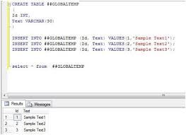 how to create temp table in sql temporary tables in sql