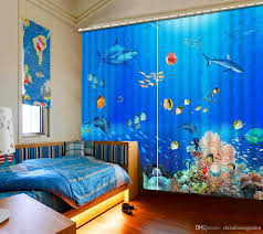 dolphin home decor 2018 photo any size modern curtains for living room ocean dolphin