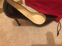 genuine christian louboutin black patent size 36 3 in east end