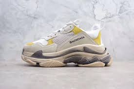 balenciaga triple s 17fw trainer white yellow lowest outlet cheap